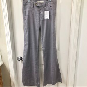 Anthropologie Level 99 Linen Blend Wide Leg Pants